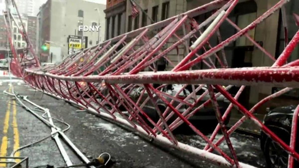 Watch NBC Nightly News with Brian Williams Season  - Massive NYC Crane Collapses, Leaving 1 Dead and 3 Injured Online