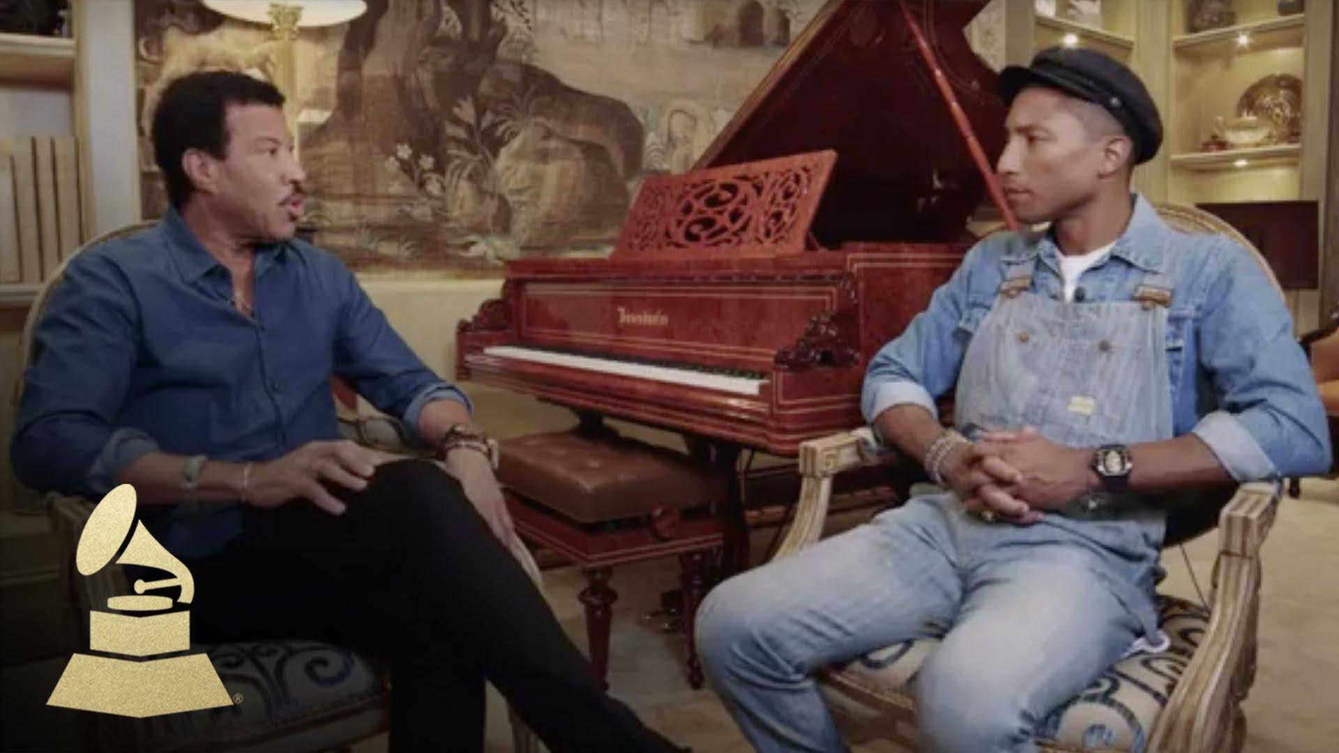 Watch The Grammys Season  - Lionel Richie and Pharrell Williams Interview | 58th GRAMMYs Online