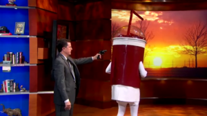 Stephen Colbert, Theater Owners Fight Against NYC Soda Ban