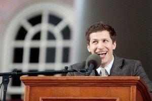 Andy Samberg Brings CEO, Marky Mark And Nicholas Cage To Harvard