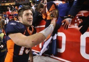 Lady Gaga to Tim Tebow: 'That's What the F**k a Champion Looks Like'