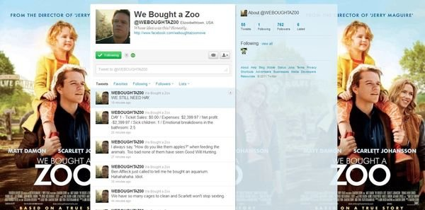 Look And Laugh At This Fake 'We Bought A Zoo' Twitter Account