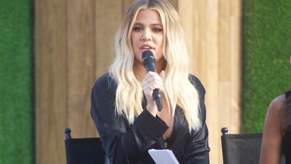 Khloe Kardashian Takes Her Baby Bump Public for the First Time
