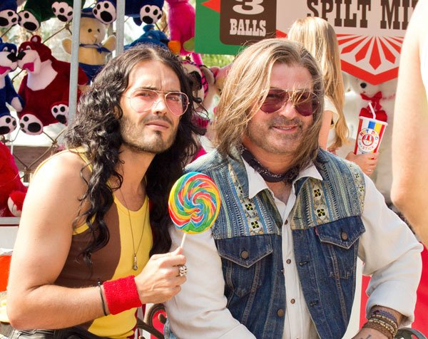 First Image Emerges Of Alec Baldwin, Russell Brand In 'Rock Of Ages'