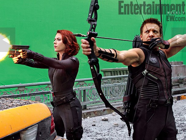 Behind the Scenes Photos: One Big Happy Family On 'Avengers' Set