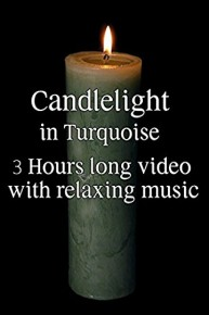 Candlelight in Turquoise - 3 Extra Long Hours