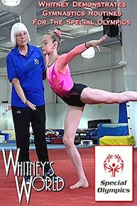 Whitney Demonstrates Gymnastics Routines for the Speciallympics