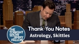 Watch Late Night with Jimmy Fallon Season  - Thank You Notes: Astrology, Skittles Online