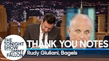 Watch The Tonight Show Starring Jimmy Fallon - Thank You Notes: Rudy Giuliani, Bagels Online