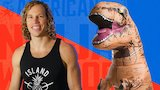 Watch American Ninja Warrior - Grant McCartney Runs from Dinosaurs Online