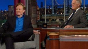 Watch Conan O'Brien Mock Jay Leno on the 'Late Show'