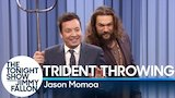 Watch Late Night with Jimmy Fallon - Trident Throwing with Jason Momoa Online