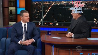 Watch The Late Show with Stephen Colbert Season 2017 Episode 194 - Matt Damon Rahm Ema... Online